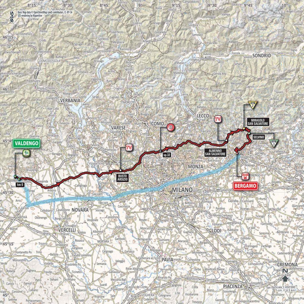 Etappe Nummer 15 des Giro d'Italia 2017