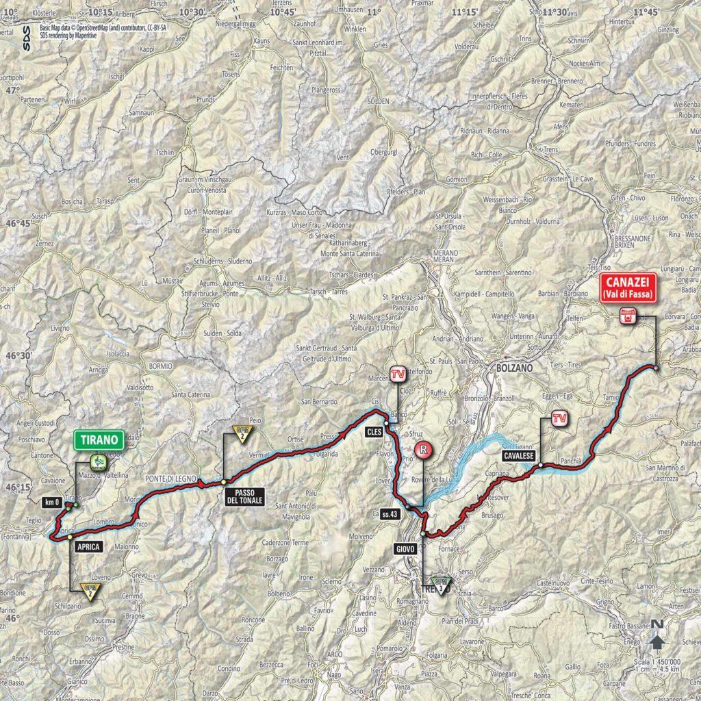 Etappe Nummer 17 des Giro d'Italia 2017