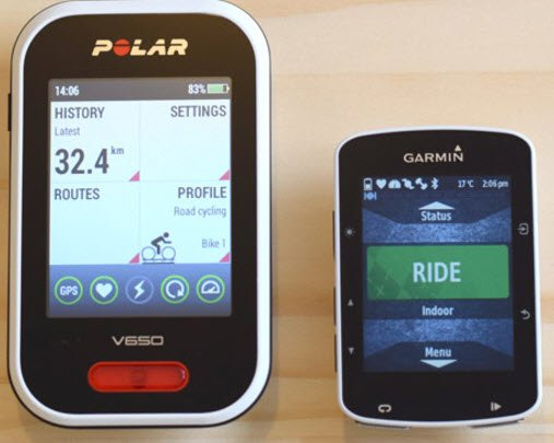 Polar V650 vs. Garmin Edge 520