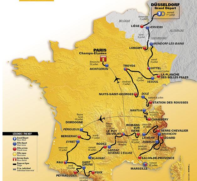 Tour de France Strecke 2017