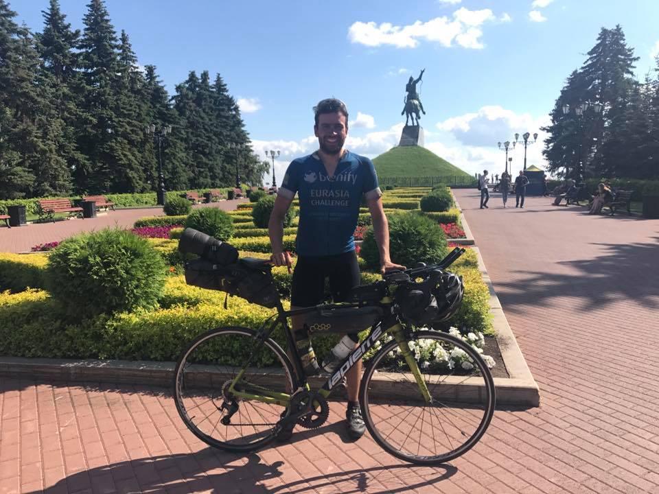 Jonas in Ufa - Weltrekord geschafft. 6450 KM in 25 Tagen 3 Stunden und 38 Minuten