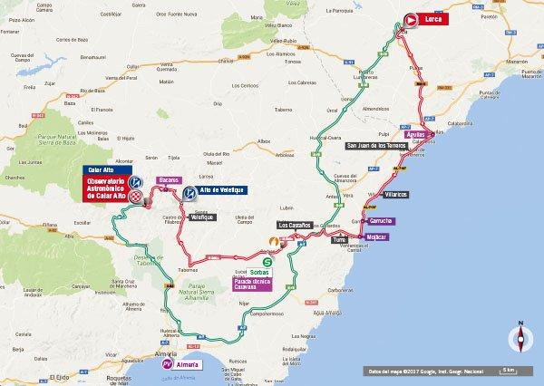 Karte der Etappe Nummer 11 der Vuelta España 2017