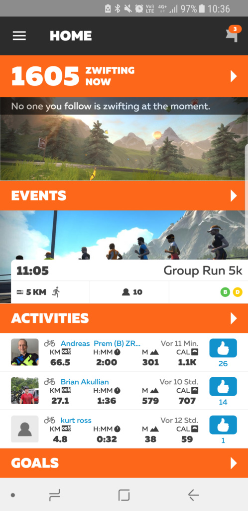 Zwift Mobile Link App