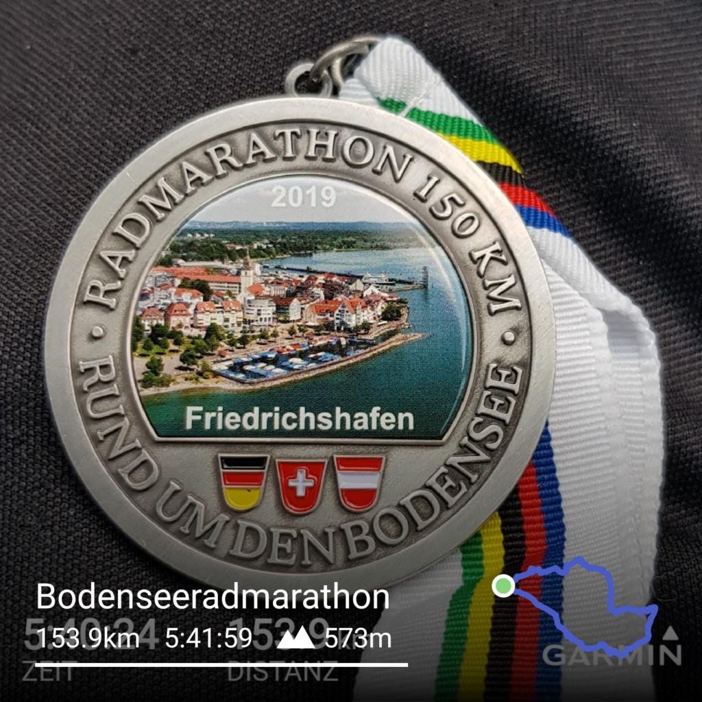 Medaille vom Bodensee Radmarathon