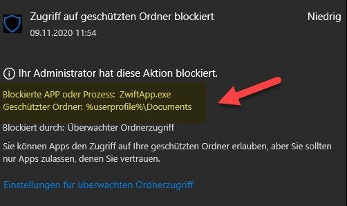 LogFile der Blockierung