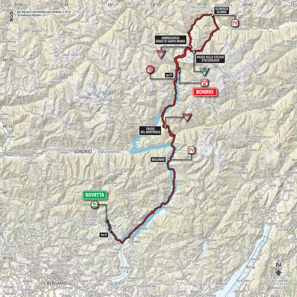 Etappe Nummer 16 des Giro d'Italia 2017