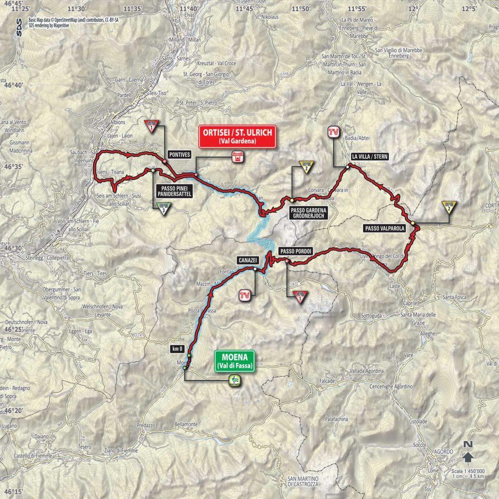 Etappe Nummer 18 des Giro d'Italia 2017