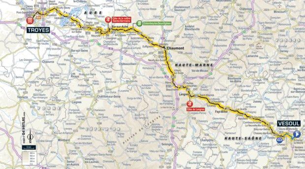 Karte der Etappe Nummer 6 der Tour de France 2017