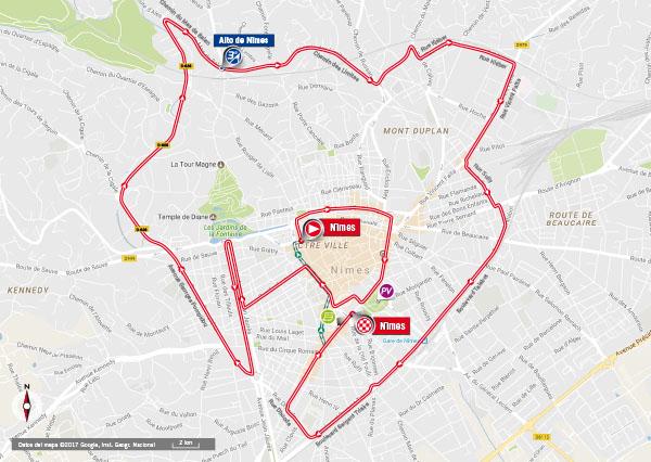 Karte der Etappe Nummer 1 der Vuelta España 2017