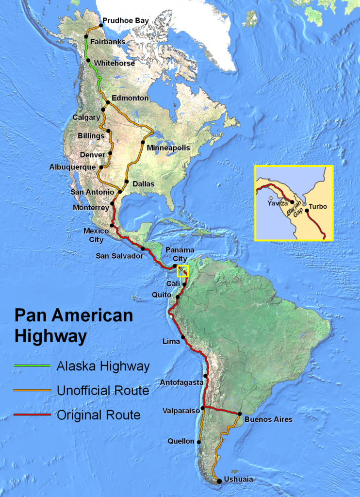 Die Route der Panamerikana