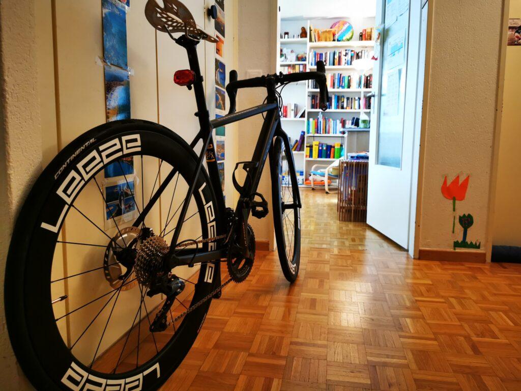 Canyon Endurance AL8 mit den Leeze Laufrädern von hinten